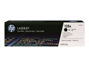 HP 128A Dual Pack Black Toner Cartridge - CE320AD