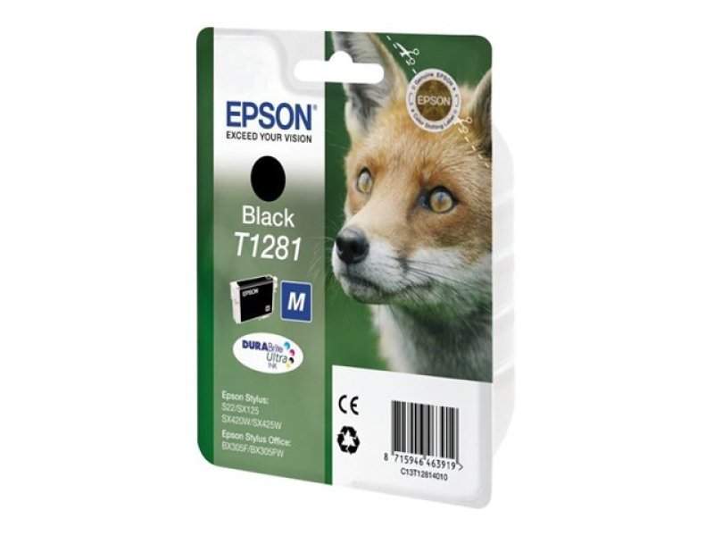 Epson T1281 Black Print Cartridge
