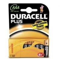 Duracell Plus AAA Alkaline Battery - 8 Pack