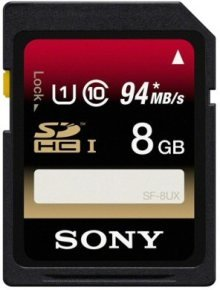 Sony Ericsson SD 8GB Cl 10 UHS-I SDHC Memory Card 94MB