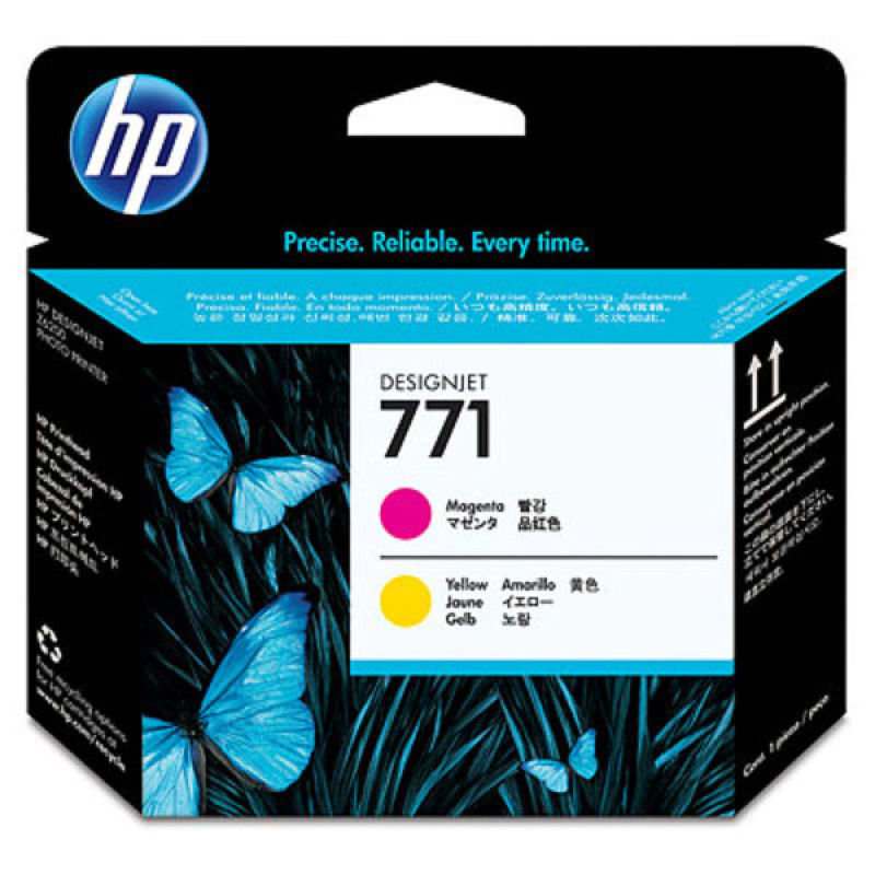 HP 771 Magenta & Yellow Print Head - CE018A