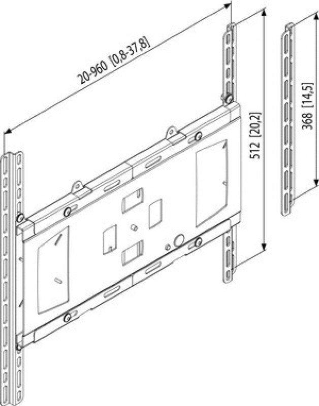 Vogel'S Professional Series, Interfaces (Display Adapters), Autolock Display Adapter, Vesa Mis-F (Silver Colour)