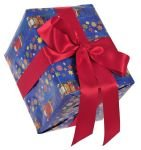 Gift Wrapping Xmas Design Blue