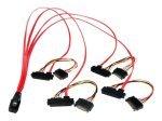 Startech Internal Serial Attached Scsi Mini Sas Cable Sff8087 To 4x Sff8482 (50cm)