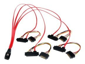 Startech Internal Serial Attached Scsi Mini Sas Cable Sff8087 To 4x Sff8482 (50cm)