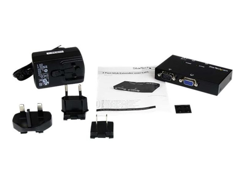 Startech 2 Port Vga Over Cat5 Video Extender Transmitter