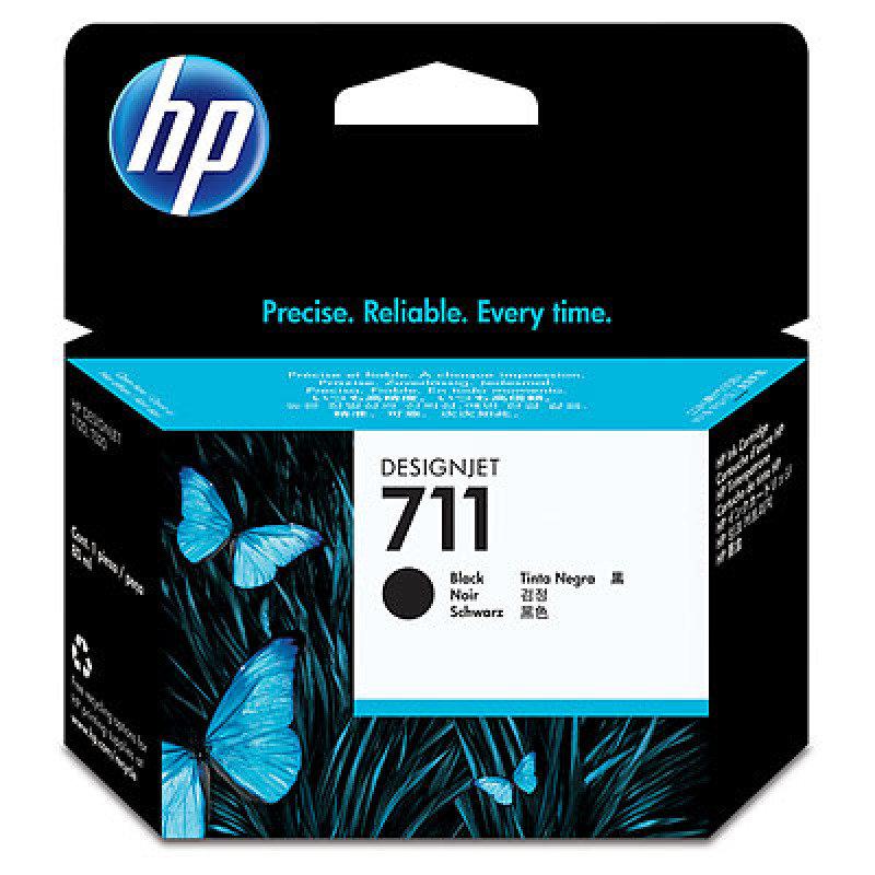 HP 711 Black OriginalInk Cartridge - Extra High Yield 80ml - CZ133A