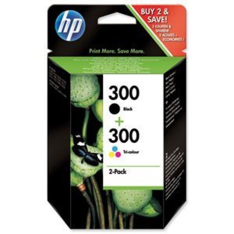 HP 300 Black and Tri Colour Ink Cartridges - SD518AE