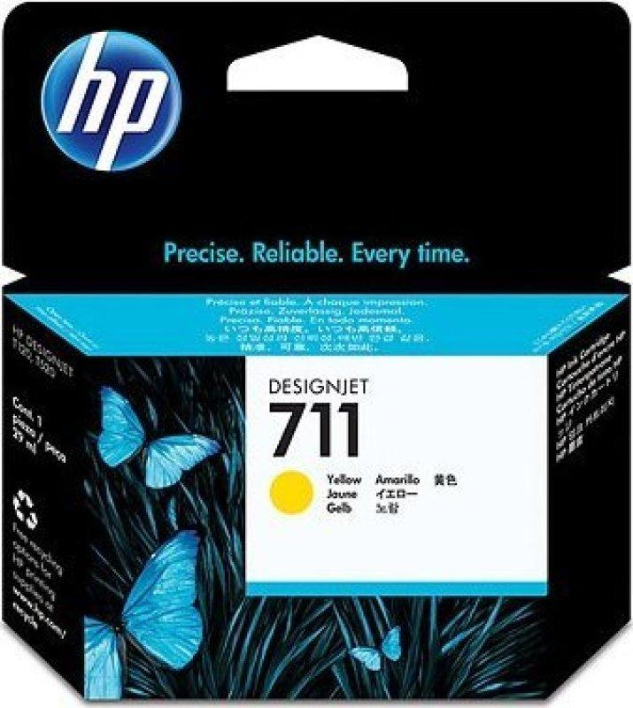 HP 711 Yellow 29ml Ink Cartridge  CZ132A