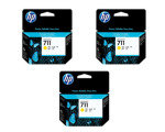 HP 711 Yellow	Original, Multi-pack Ink Cartridge - Standard Yield	3 x 29ml - CZ136A