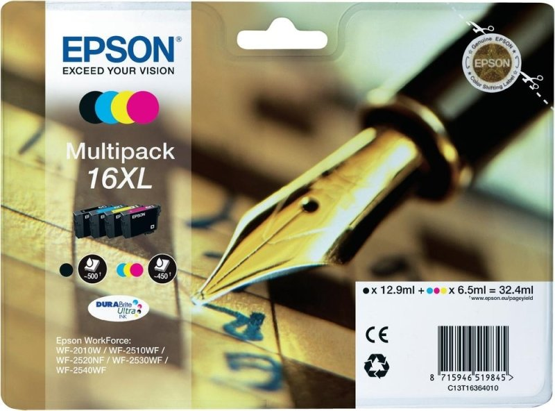 Epson 16XL Multipack Ink Cartridge