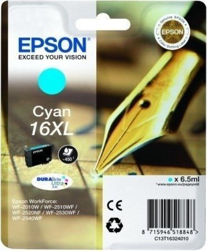 Epson 16XL Cyan Ink Cartridge
