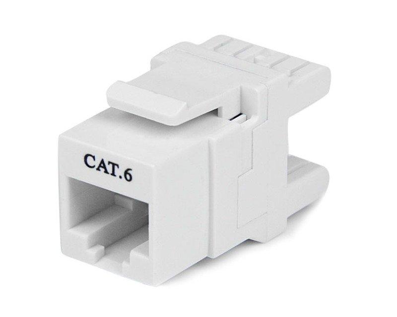 Startech 180° Cat 6 Keystone Jack Rj45 Ethernet Cat6 Wall Jack 110 Type (white)