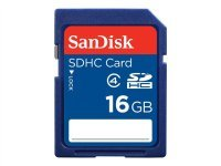 Sandisk 16GB Class 4 SDHC Memory Card