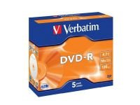 Verbatim 16X 4.7GB AdvAzo DVD-R - 5 Pack Jewel Case