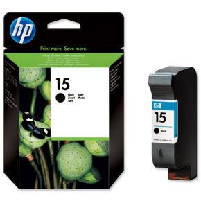 HP 15 Black Ink Cartridge - C6615DE