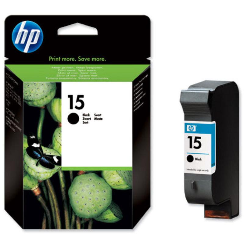 HP 15 Black Ink Cartridge  C6615DE