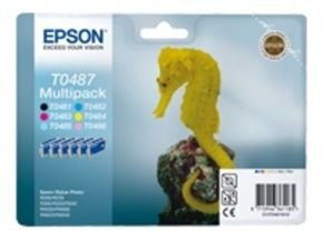 Epson T048 Multipack (Bk,C,M,Y.LC,LM) with RF Tag for Stylus Photo R2xx/R3x