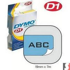 DYMO - D1 - TAPE DYMO 19MMX7M - BLACK/BLUE IN