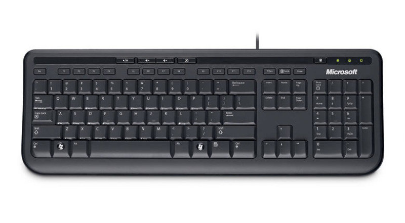 Microsoft Wired Keyboard 600 Black - USB