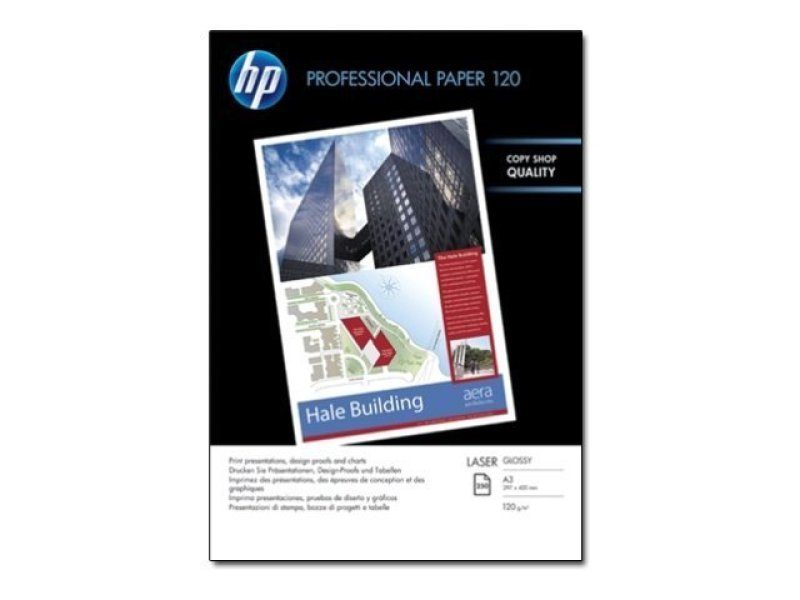 Image of HP Professional A3 120gsm Gloss Laser Printer Paper - 250 Sheets - CG969A