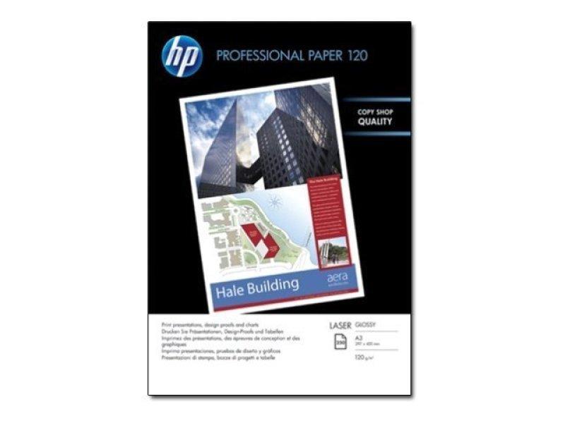 HP Professional A3 120gsm Gloss Laser Printer Paper  250 Sheets  CG969A