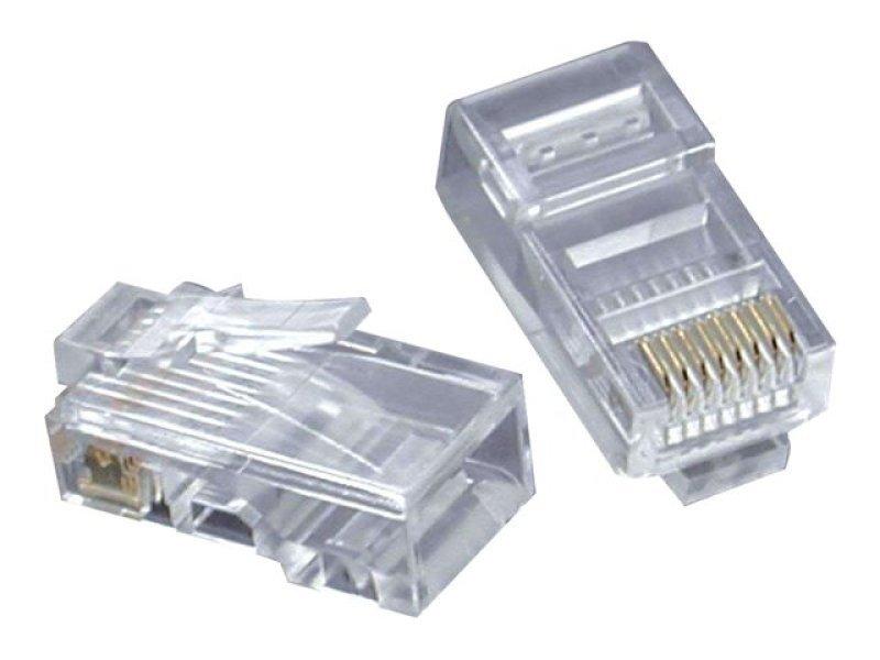 C2G RJ45 Cat5 8x8 Modular Plug for Flat Stranded Cable - 50pk