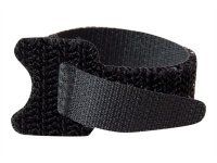 150mm Hook-and-Loop Cable Management Straps - Black - 12pk