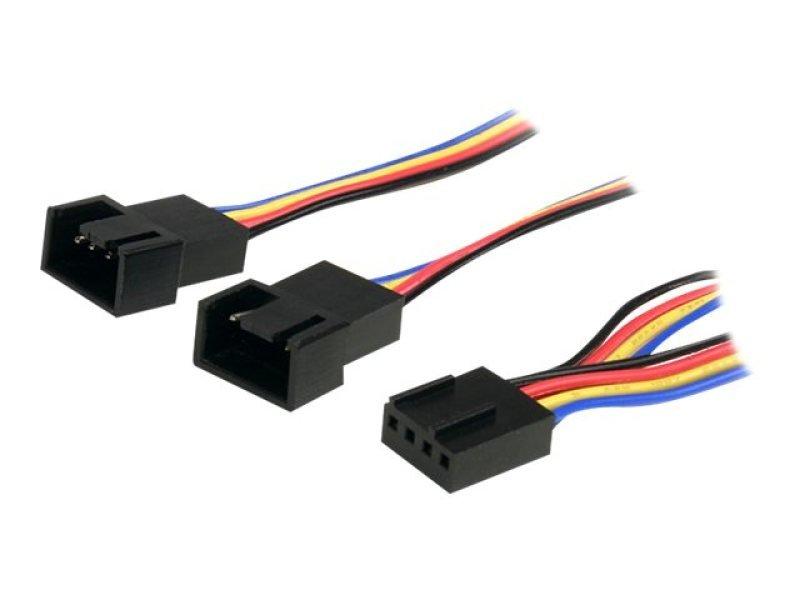 StarTech.com 12in 4 Pin Fan Power Splitter Cable - F/M