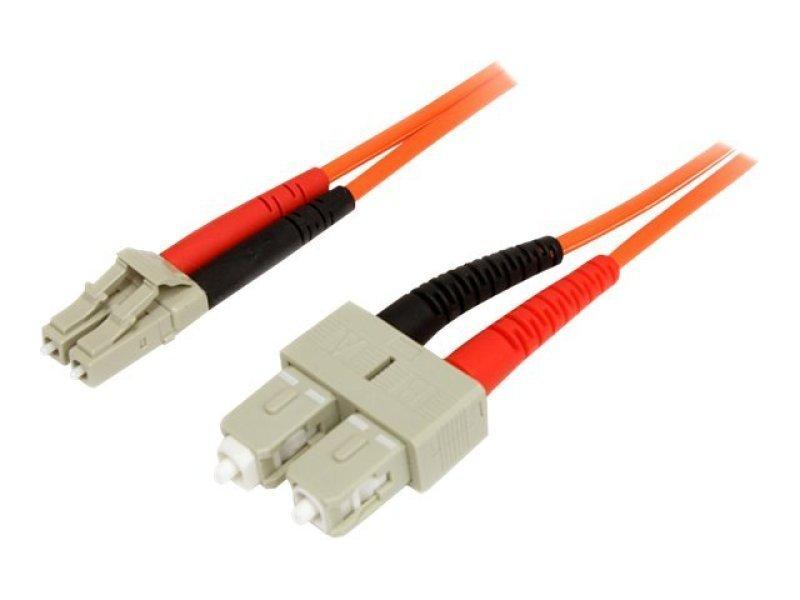 1m Multimode 62.5/125 Duplex Fiber Patch Cable LC - SC