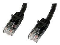 StarTech.com 1m Black Gigabit Snagless RJ45 UTP Cat6 Patch Cable - 1 m Patch Cord - 1m Cat 6 Patch Cable