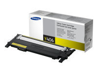 Samsung CLT-Y406S Yellow Original Toner Cartridge - Standard Yield 1000 Pages - SU462A