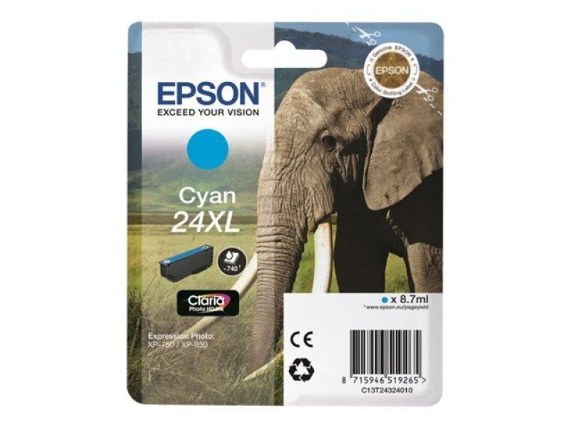 Epson 24XL Cyan Ink Cartridge- Blister