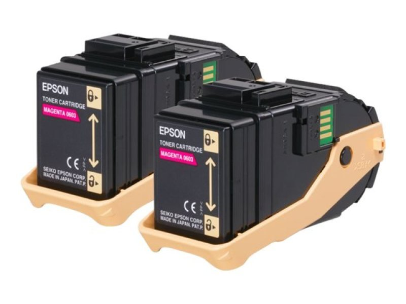 Epson Double Pack Magenta Toner cartridge