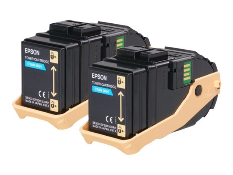 Epson S050608 Double Pack Cyan Toner Cartridge
