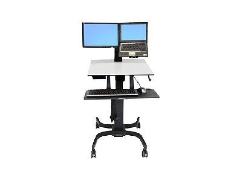 Ergotron WorkFit-C - Dual Sit-Stand Workstation