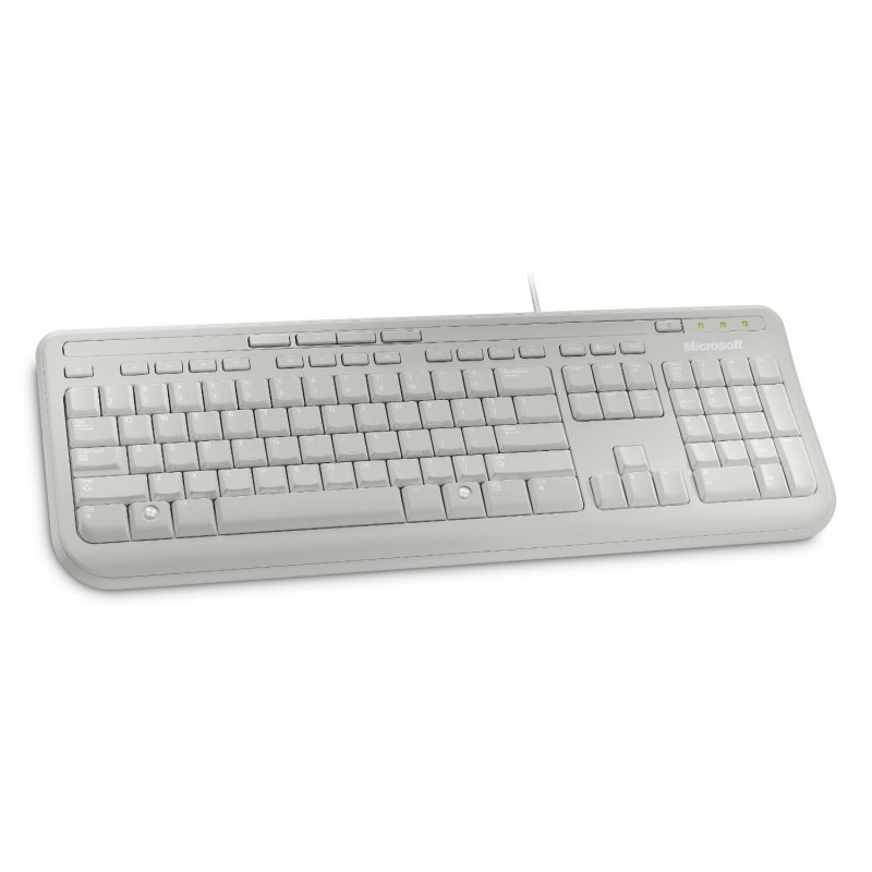 microsoft wired keyboard 600 white usb ebuyer. Black Bedroom Furniture Sets. Home Design Ideas