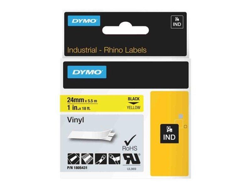 Rhino 24 Mm Vinyl - Black On Yellow In