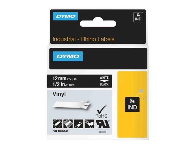 DYMO Rhino Coloured Vinyl - Permanent Adhesive Vinyl Tape