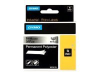 DYMO Metallized Permanent Polyester Tape - Black on Silver