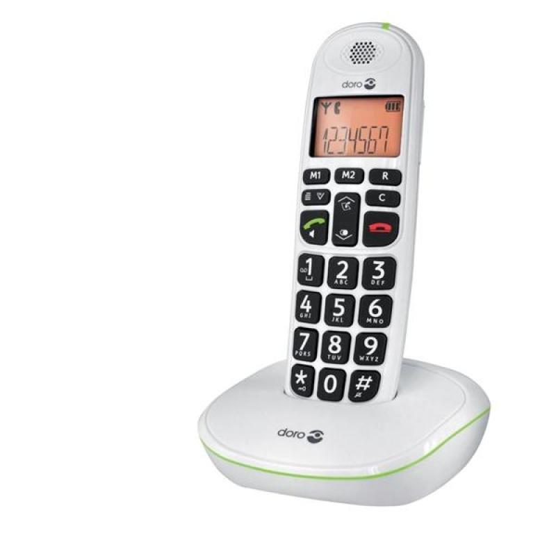 Doro PhoneEasy 100W White DECT Cordless Phone  Single Handset