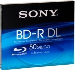 Sony 2X BD-R 50GB Dual Layer Blu-Ray Disc - Single Jewel Case