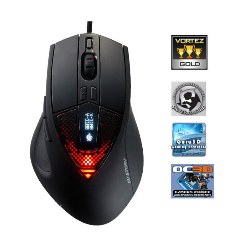 CM Storm Sentinel Gamers Mouse - 5600DPI Internal Memory and Adjustable Weights