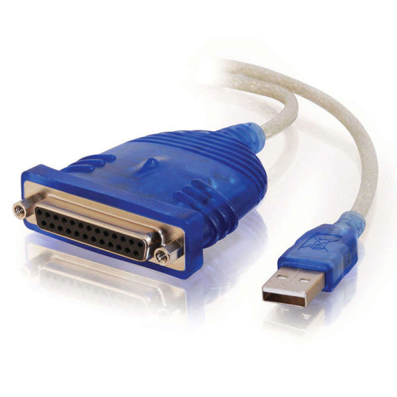 Image of C2G, USB 1284 DB25 Parallel Printer Adapter