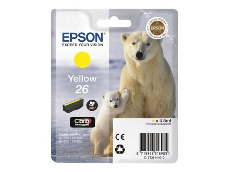 Epson 26 Yellow Claria Ink Cartridge