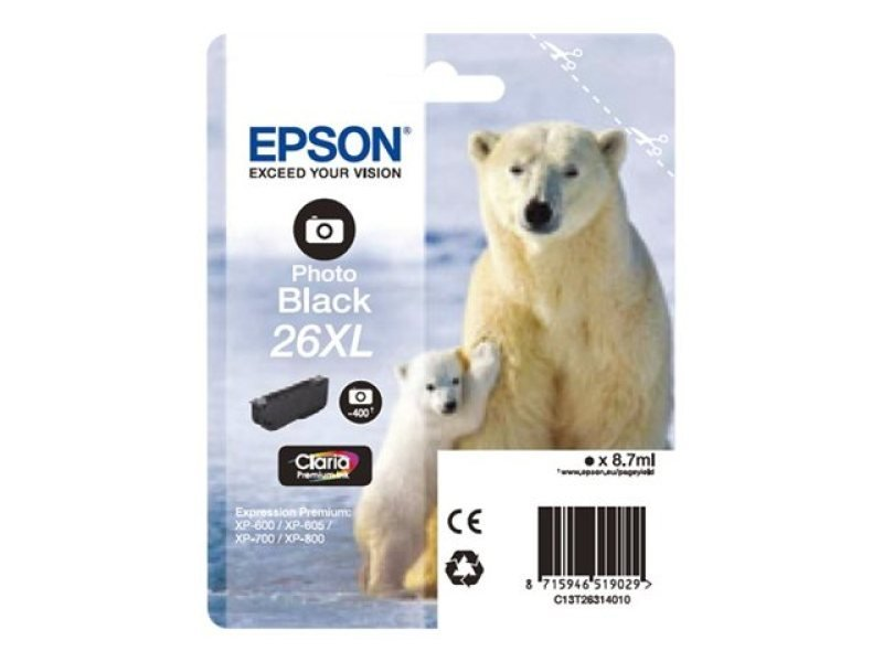 Click to view product details and reviews for Epson Photo Black 26xl Claria Ink Cartridge.