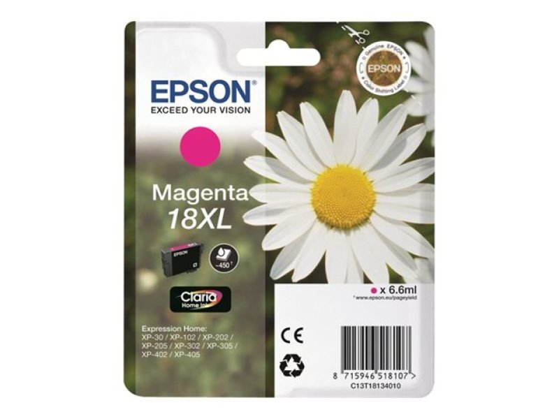 Epson 18XL Claria Home Ink Cartridge - Magenta