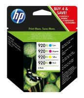 HP 920XL Combo-pack Ink Cartridges