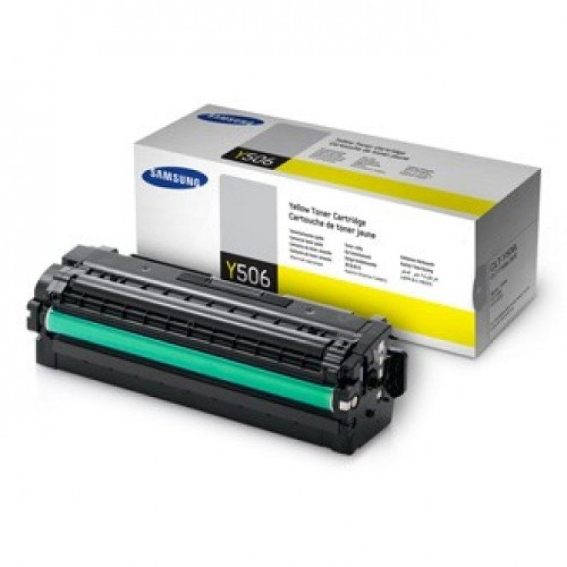 Samsung CLT-Y506L Yellow Toner Cartridge - 3,500 Pages