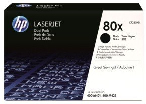 HP 80X Black Dual Pack Toner Cartridges - CF280XD